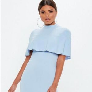 Missguided Dresses - Missguided cape dress baby blue nwt